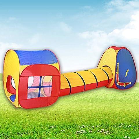 Hikenn Kinder-Baby-Indoor Outdoo Zelt Spielzeug Hutr Tunnel Zelte Spielen Cubby Haus Set Pop Up