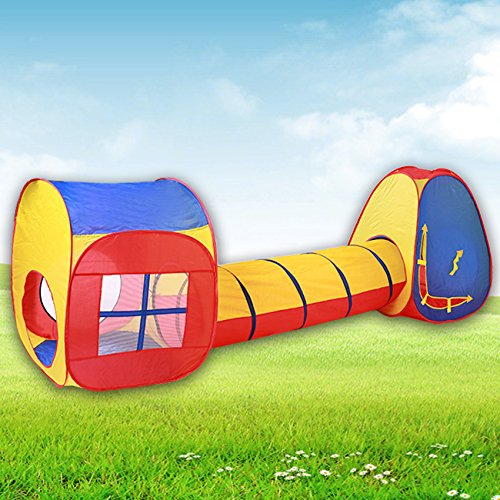 Hikenn Kinder-Baby-Indoor Outdoo Zelt Spielzeug Hutr Tunnel Zelte Spielen Cubby Haus Set Pop Up