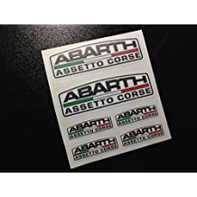 PEGATINAS ABARTH ASSETO CORSE ECO39 FIAT 500 STICKERS AUFKLEBER AUTOCOLLANTS ADESIVI (COLORES IMAGEN/IMAGE