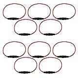 com-four® 10x Sicherungshalter für 5 x 20 mm Glassicherung mit geschlossenen Enden, 27 cm (10 Stück - schwarz)