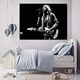 WJY Kurt Cobain Gitarre Solos Öl Druck Poster Wandkunst HD Leinwandbild Für Wohnzimmer Nordic Kids Home Decor 60cm x90cm Kein Rahmen