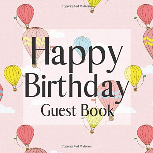 Book: Hot Air Balloons Themed - Signing Celebration Guest Book w/ Photo Space Gift Log-Party Event Reception Visitor Advice ... Memories-Unique Accessories Idea Scrapbook ()