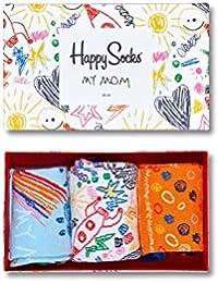 Happy Socks, bunt premium baumwolle Geschenkkarton 3 Paar Socken für Männer und Frauen