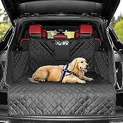 KYG Universal Kofferraumschutz Hunde - Kofferraumdecke mit Ladekantenschutz - Wasserabweisend & Pflegeleicht- Ideale Kofferraumschutzmatte für deinen Hund