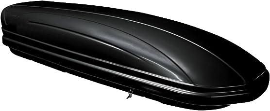 Menabo 36100000 Dachbox Mania 320, glänzend, universal, Dachkoffer aerodynamisch, schwarz