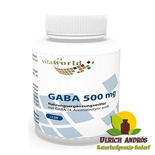 Vita World GABA 500mg 120 Capsule Acido Gamma-aminobutirrico Made in