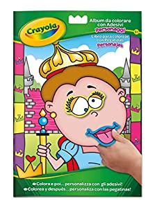 CRAYOLA Crayola-04-7349 Libro Colorear+Stickers 29x20, Multicolor (7349)
