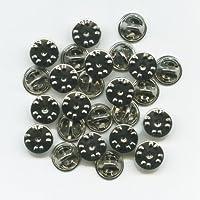 25 nieuwe zilveren sluitingen vlinderclips voor badge pinnen pinnen