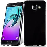 Cadorabo - Ultra Slim TPU Etui pour Samsung Galaxy A3 (6) (Modèle 2016) Housse Gel (silicone) en Design 'AIR' - Coque Case Cover Bumper en NOIR