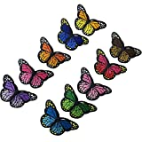 huixun blau pink rot lila orange grün Schmetterling EISEN auf Patches für Kleidung-Stickerei 10Stück