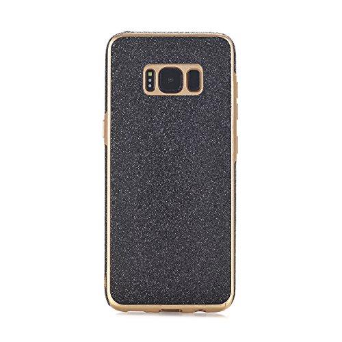 Samsung Galaxy S8 Case, TechCode Geometrisch Slim Fit Dual Layer Drop Schutz Burgund Modern Grip Hülle für Samsung Galaxy S8 (Galaxy S8, Rosa-A2) Schwarz-A2