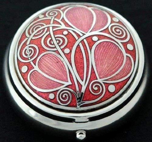 Pillendose mit keltischem Triskele-Motiv rot