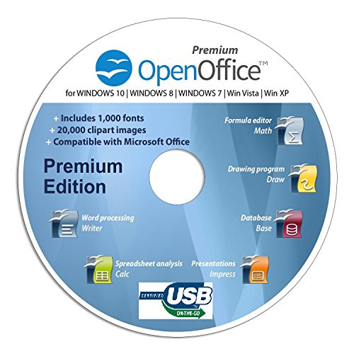 Open Office Special Edition CD DVD 100% kompatibel zu Microsoft® Word® und Excel®