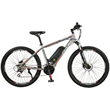 "Surge Mens 27.5"" Wheel Mid Drive Electric Mountain Bike, 8 Speed shimano Acera Gears"
