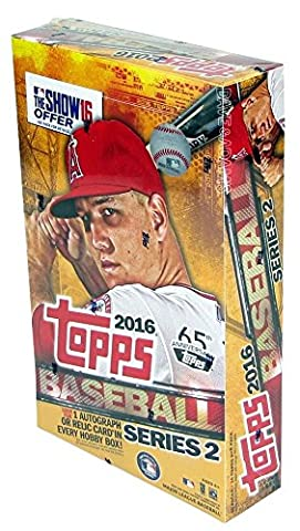 2016 Topps Series 2 Baseball Hobby Box (36 Packs/Box- 10 Cards/Pack - 1 Autograph or Relic Per Box) (Release Date: 6/15/16) by Topps Series 2 Baseball