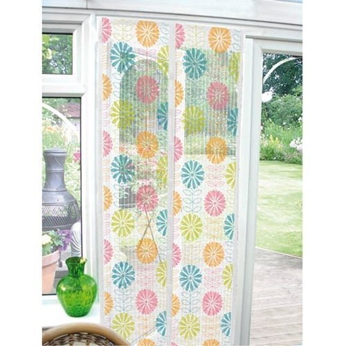 magnetic-insect-guard-screen-door-curtain-coloured-flowers