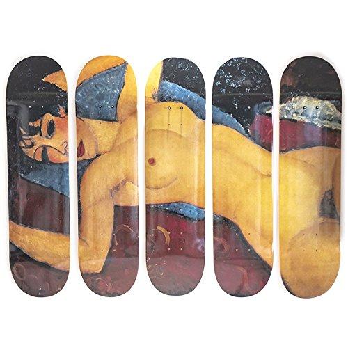 MUSART Limited Edition-Modigliani-Skateboard Decks-Wanddekoration-5Decks-20,3x 81,3cm je (Kanadische Ahorn-skateboard-deck)
