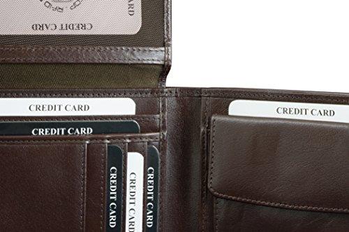 KORUMA ORIGINAL RFID Schutz Leder Geldbeutel (BRAUN) Braun