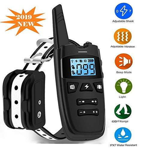 Collares Adiestramiento para Perros con 800 Yarda Remoto, Automatización/Sonido/Vibración/Flash Ligero 4 Modos