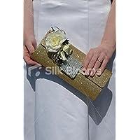 Real touch avorio rose wedding magnetico borsa corpetto W/Black Trim - Corpetto Trim