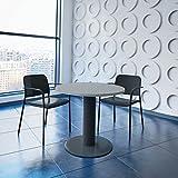 Weber Büro OPTIMA runder Besprechungstisch Ø 80 cm Lichtgrau Anthrazites Gestell Tisch Esstisch