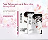 MOND'SUB Pure Rejuvenating, Renewing, Radiant & Shining Beauty Face Mask Sheets (Pack of 3 x 25g)