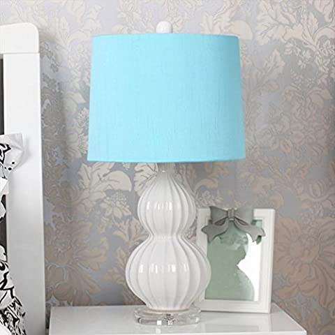 ZH The simplicity of modern ceramic lighting decorative lamp creative fashion living room lamps bedroom bedside lamp , blue