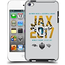 Official NFL Jacksonville Jaguars Logotype 2017 London Games Teams Hard Back Case for Apple iPod Touch 4G 4th Gen