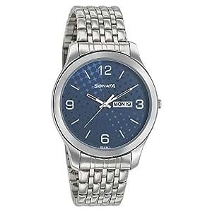 Sonata Analog Silver Dial Men's Watch-77063SM06