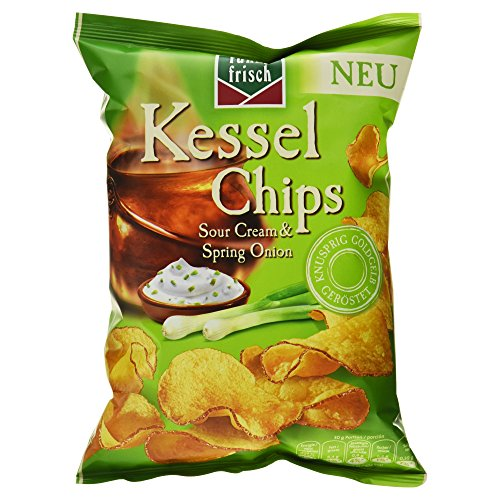 Funny-frisch Kessel Chips Sour Cream & Spring Onion, 120 g