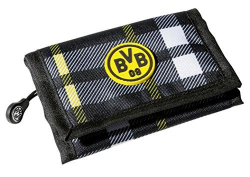 BVB Geldbörse kariert, gelb/schwarz Borussia Dortmund