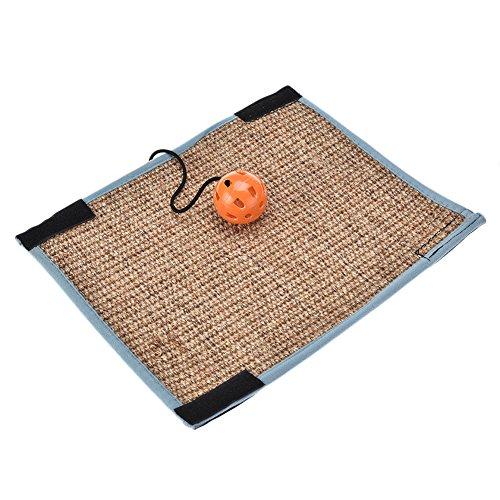 AIHOME Sisal Katzen-Kratzmatte Rutschhemmend Sisal-Matte für Katzen Sisalteppich für Stuhlfüße und Tischbeine mit Schelle Katzenspielzeug