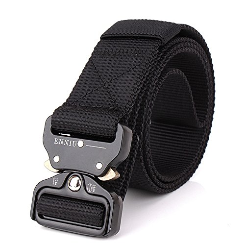 OWIKAR Mens Tactical Hüftgurt Einstellbare Military Nylon Bund mit Metall Buckle Combat Ausrüstung Armee Training Gürtel Heavy Duty Quick-Release Bund Für Outdoor-Jagd (Nylon Tweed-rock)