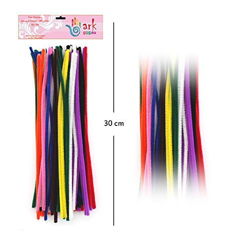 100-multi-coloured-stem-chenille-stick-pipe-cleaner-cleaners-300mm-x-4mm