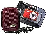 Foto Custodia Per Fotocamera Hard Box Memo M Plum Set con sacchetto subacquea fino a 6meter