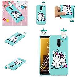 ChoosEU Funda Samsung Galaxy J6 2018 Silicona 3D Dibujos Unicornio Panda Carcasas TPU Case Antigolpes Bumper Cover Protección Caso Flexible Gel - Pareja Unicornio