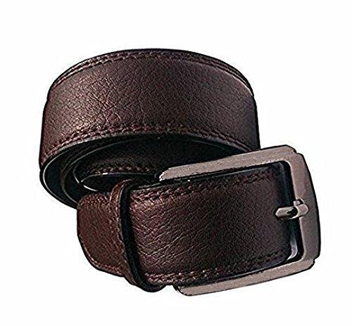 Krystle Boys' Belt (Bbrownlethr-Belt_Brown_Free Size)