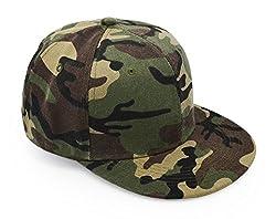 UltraKey Baseballkappen, Militär-Camouflage-Kappen, Schirmmützen, können für Outdoor-Aktivitäten wie Angeln, Camping und Jagd verwendet Werden Grüne-Flachen Rand