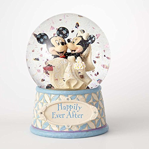 ENESCO Disney Traditions Mickey and Minnie Mouse Water Globe (Globes Disney)