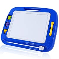 SGILE Magnetic Board with Stamps Sketch Boards and Album for Kids, Erasable Colorful Scribble Board, Toddlers Magna Doodles Writing Pad Learning toys, 42×33.5cm