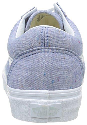 Vans Ua Old Skool, Scarpe da Ginnastica Basse Donna Blu (Speckle Jersey Blue/true White)