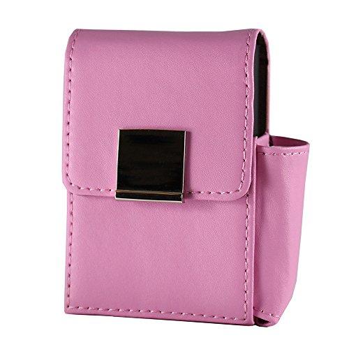 Portasigarette 20 con il supporto per gli accendini per la lunghezza di 20 sigarette standard - King Size (rosa)