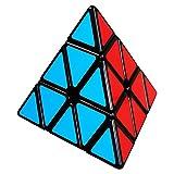 COOJA Pyraminx Cubo Mágico, Triángulo Pirámide Puzzle 3x3, Velocidad Rompecabeza Cubos con Easy Turning