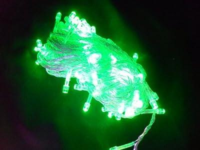 Led Lichterkette mit 100 LED 8 Programme NEU transparente Schnur für Weihnachtsbaum GRÜN 10m von vonRG - Lampenhans.de