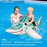 Un Branded NewBaby Swimming Ring Shark Seat Inflatable Flamingo Swan Pool Float Baby Summer Water Fun Pool Toy Kids Swimming Pool Accessories Camouflage Shark