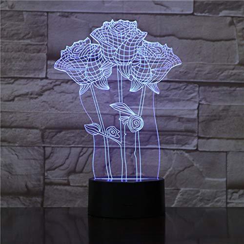 Audiencia 3D Light Table Dormitorio Figura de acción Luces Decorativas 7 Cambio de Color LED Night...