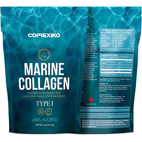 Péptidos Colágeno Marino de Peces Salvajes del Atlántico Norte (No de Acuicultura) - Proteína de Colágeno en Polvo para Articulaciones, Huesos, Piel, Cabello - Colágeno Hidrolizado (Hecho en Canadá)