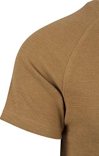 Urban Classics Herren T-Shirt Thermal Slub Raglan Tee Braun (Toffee 786)