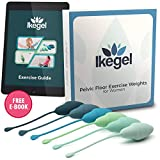 Ikegel Kegel Weighted Exercise Balls Pack of 6 Silicone Kegel Exerciser Weight Kit