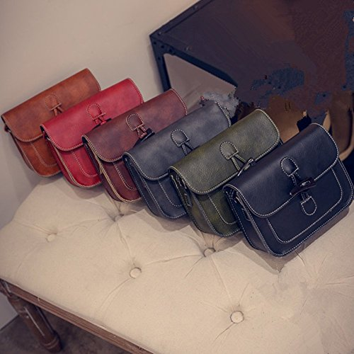 Eysee, Borsa a tracolla donna rosso Green 18cm*15cm*6cm Light brown
